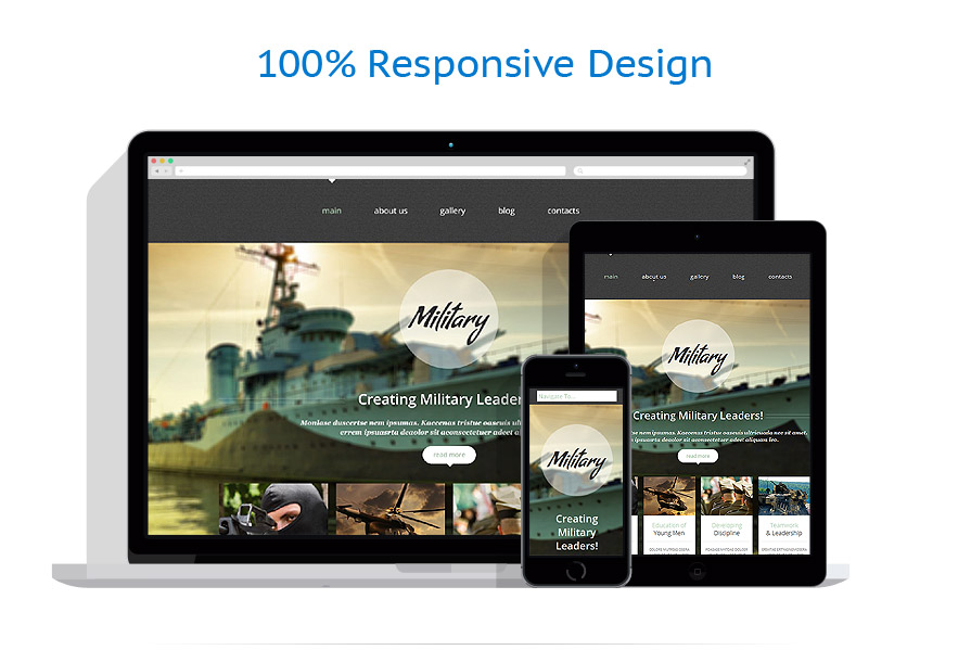 responsive template | Military | ID: 1000