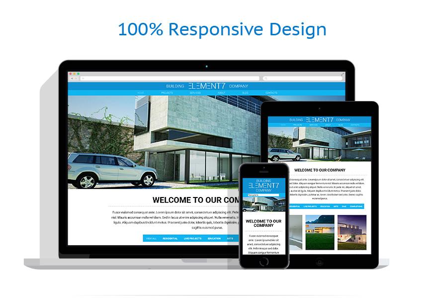 Sablon responsive de | Arhitectura | ID: 1025