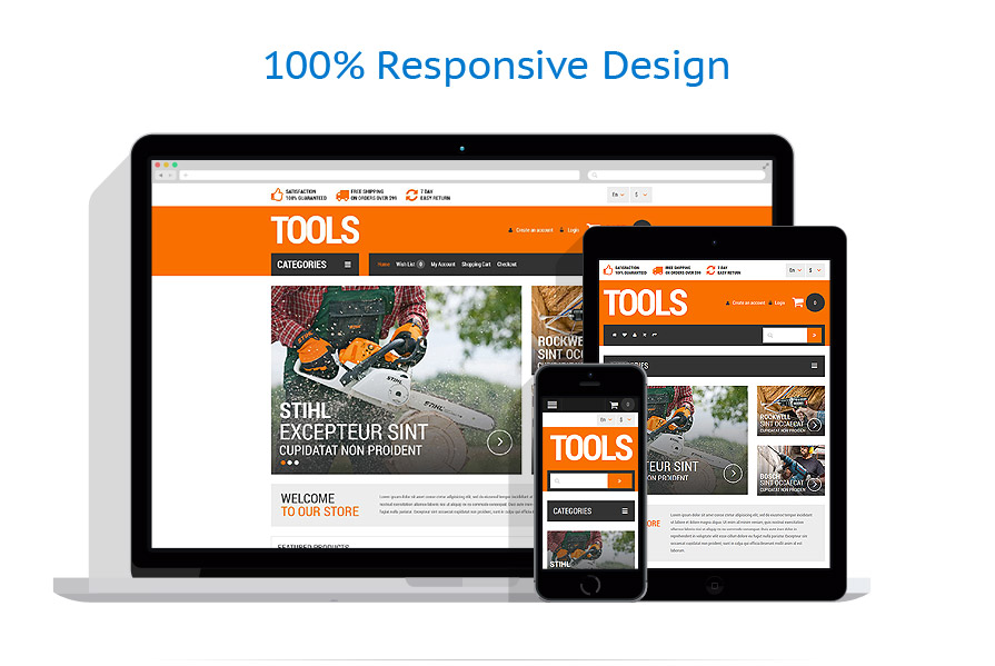 responsive template | Tools & Equipment