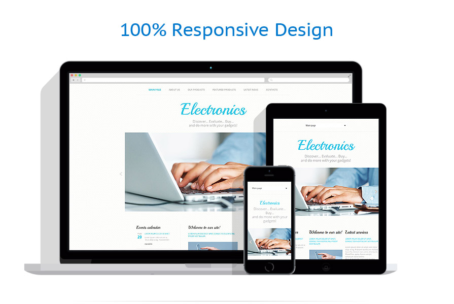 responsive template   Electronics   ID: 1095