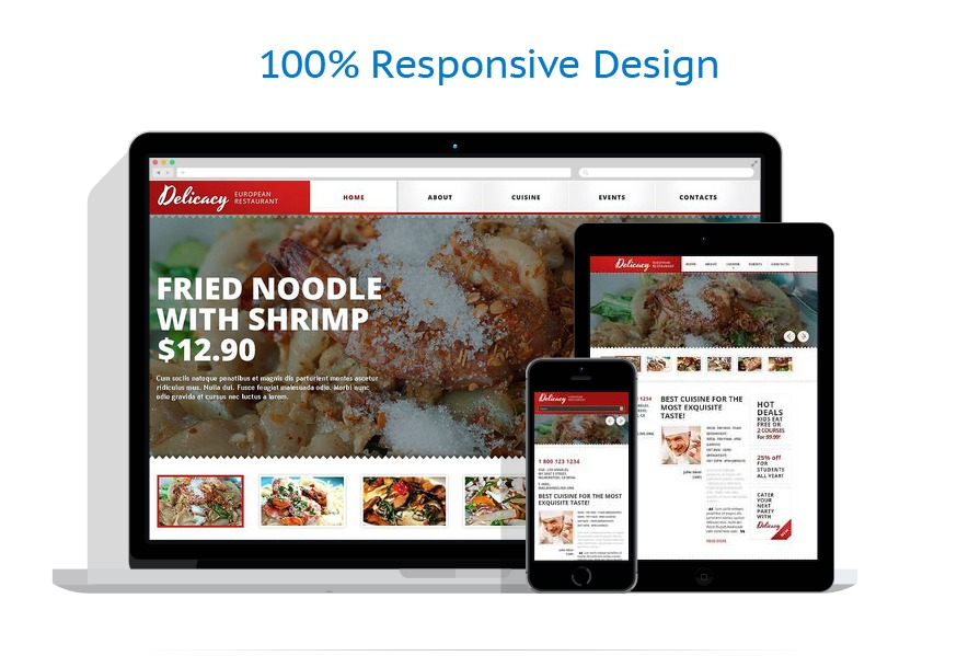 Sablon responsive de | Cafenele & Restaurante | ID: 1252