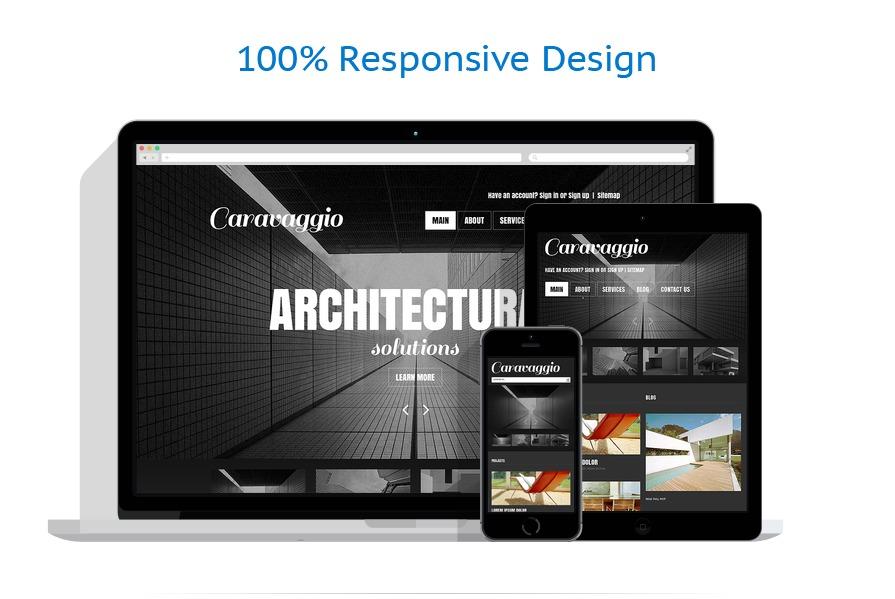 Sablon responsive de | Arhitectura | ID: 1305