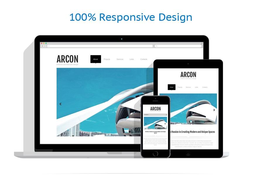 Sablon responsive de | Arhitectura | ID: 1324