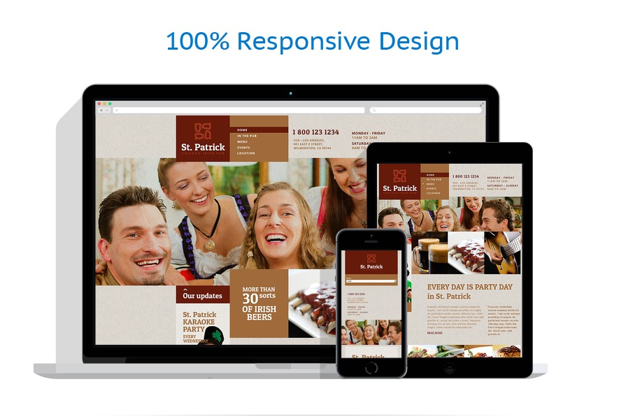 responsive template | Brewery Templates | ID: 1329