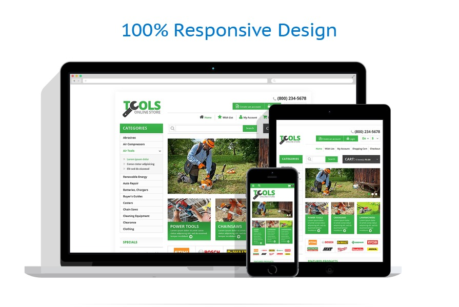 responsive template   Tools & Equipment   ID: 1348