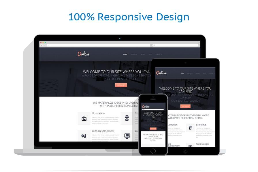 Sablon responsive de | Web design | ID: 1351