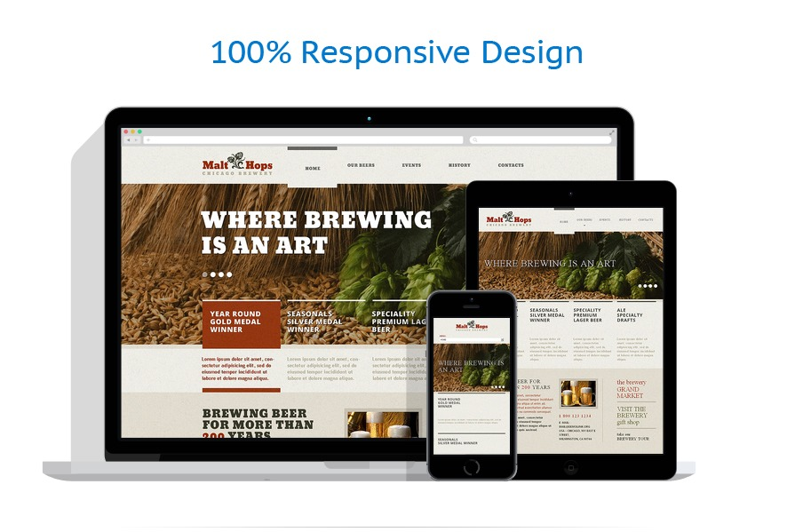 responsive template | Brewery Templates | ID: 1364