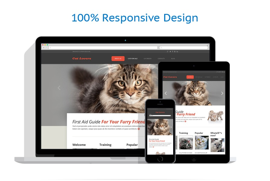 Sabloane responsive de website | Animale | ID: 1433