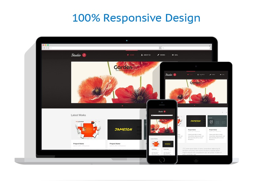 Sablon responsive de | Web design | ID: 1443
