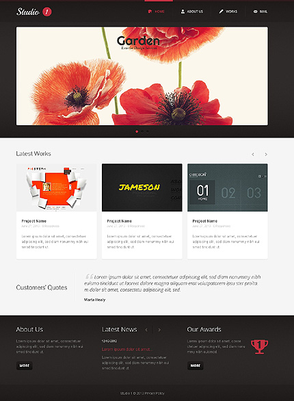 Sablon de | Web design | ID: 1443