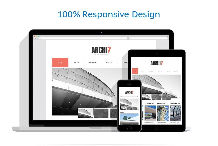 Sablon responsive de | Arhitectura | ID: 1465