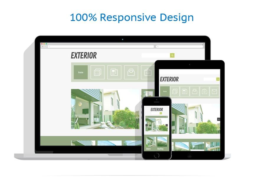 Sablon responsive de | Design Exterior | ID: 1502