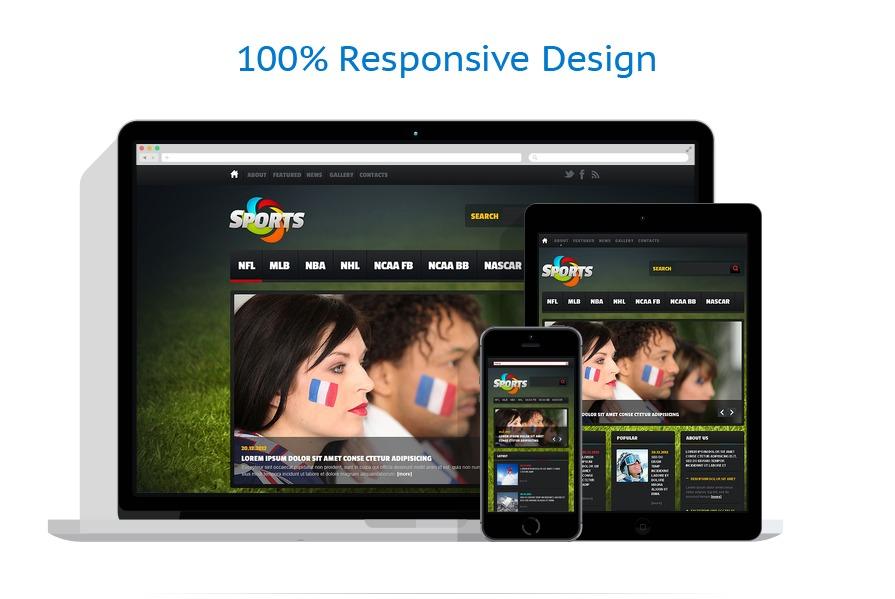 responsive template | Sport | ID: 1619