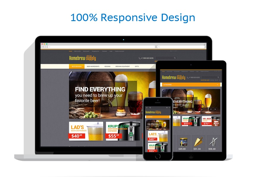 responsive template | Brewery Templates | ID: 1702