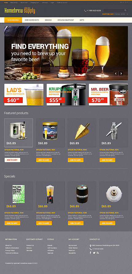 template | Brewery Templates | ID: 1702