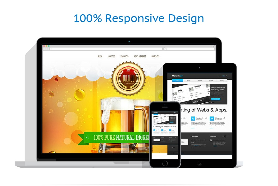 responsive template | Brewery Templates | ID: 1767