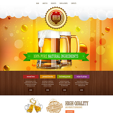 template | Brewery Templates | ID: 1767