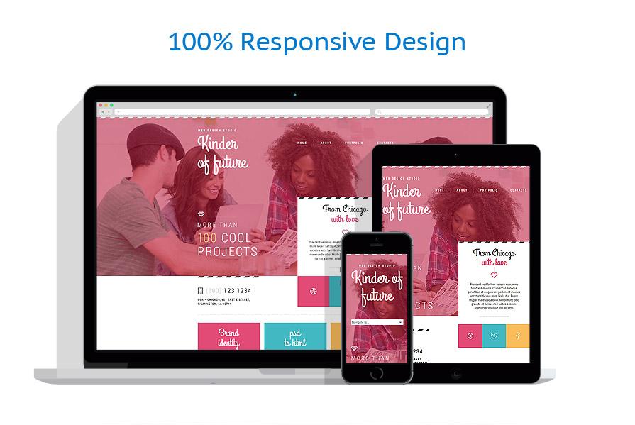 Sablon responsive de   Web design   ID: 1885