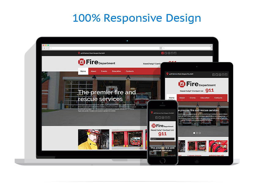 responsive template | Security | ID: 1895