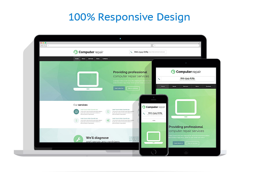 responsive template | Computers | ID: 1916