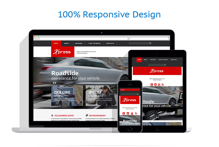 Responsive website templates | Electronics
