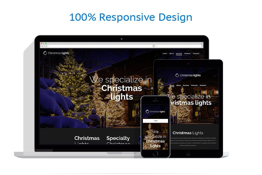 responsive template | Christmas Templates | ID: 1942