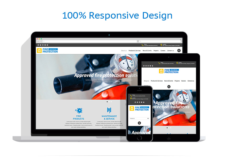 responsive template | Security | ID: 1953