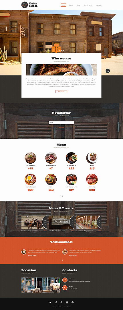 Sablon de   Cafenele & Restaurante   ID: 2001