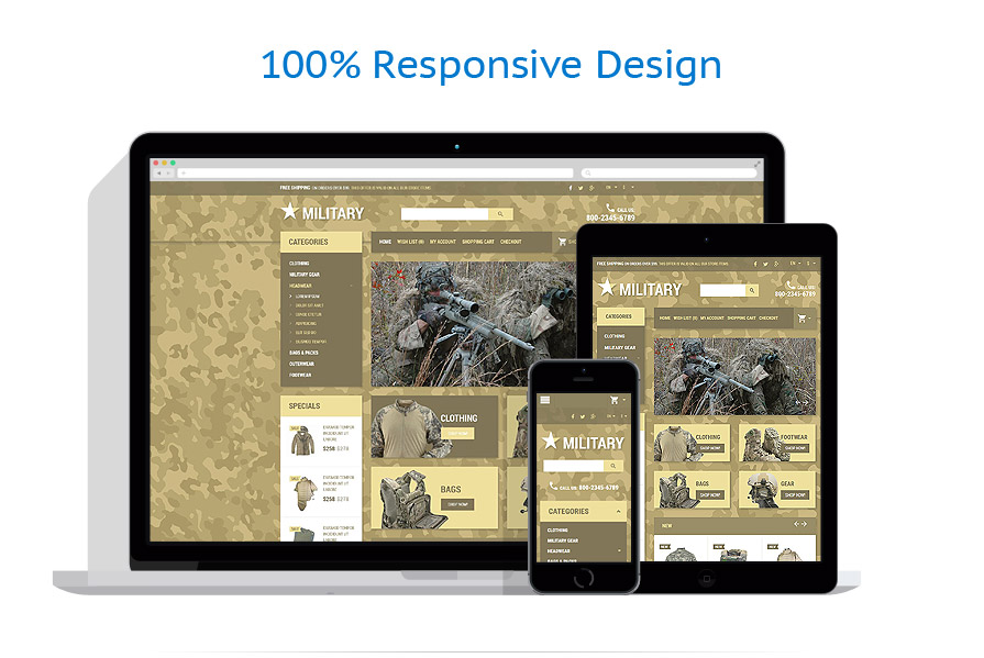responsive template | Military | ID: 2041