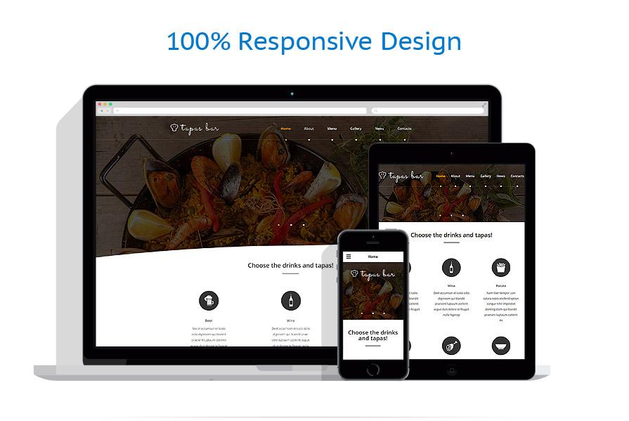 Sablon responsive de | Cafenele & Restaurante | ID: 2109
