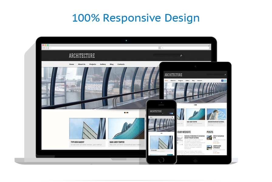 Sablon responsive de | Arhitectura | ID: 211