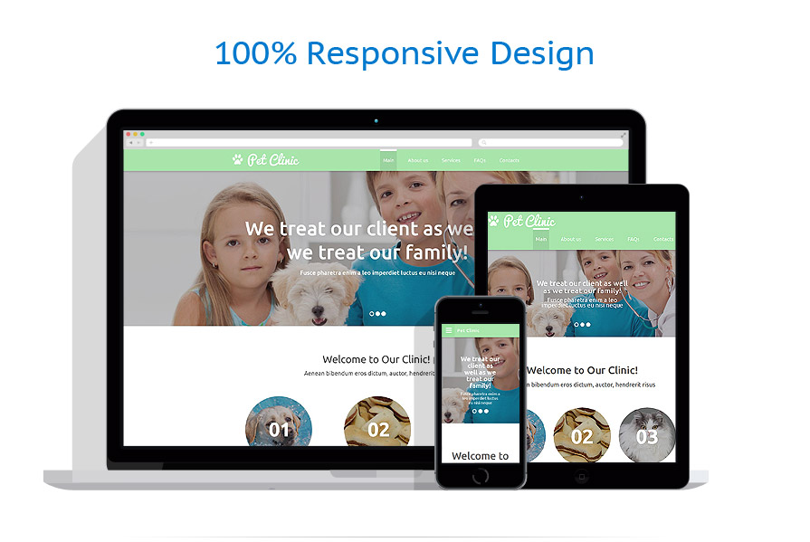 Sabloane responsive de website | Animale | ID: 2146