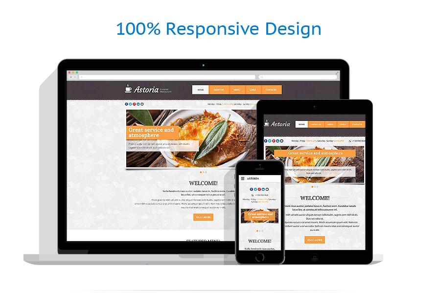 Sablon responsive de | Cafenele & Restaurante | ID: 2170