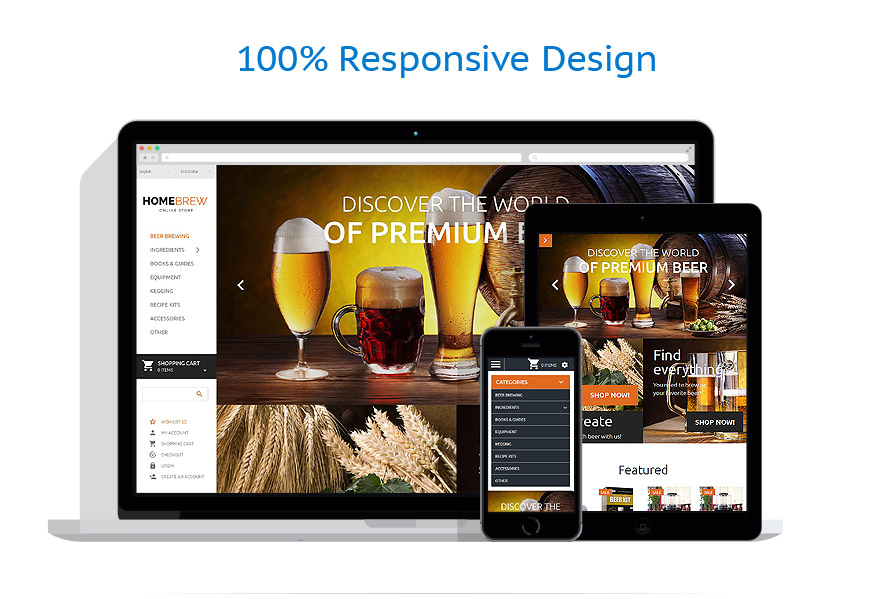 responsive template | Brewery Templates | ID: 2250