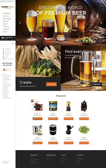 template | Brewery Templates | ID: 2250