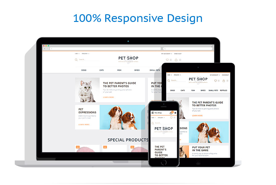 responsive template | Animals & Pets | ID: 2280