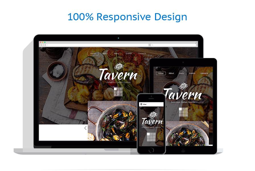 Sablon responsive de | Cafenele & Restaurante | ID: 2296