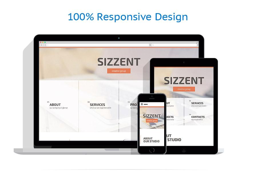 Sablon responsive de | Web design | ID: 2348