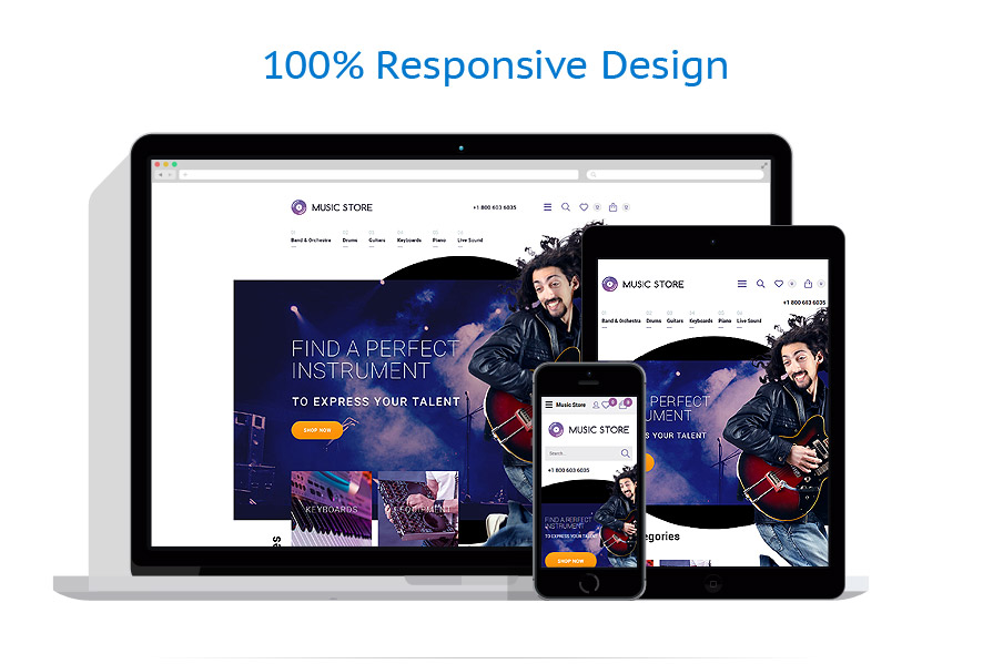 responsive template | Music