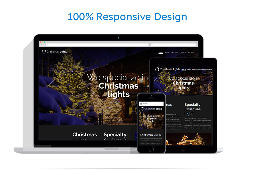 Responsive website templates | Christmas Templates