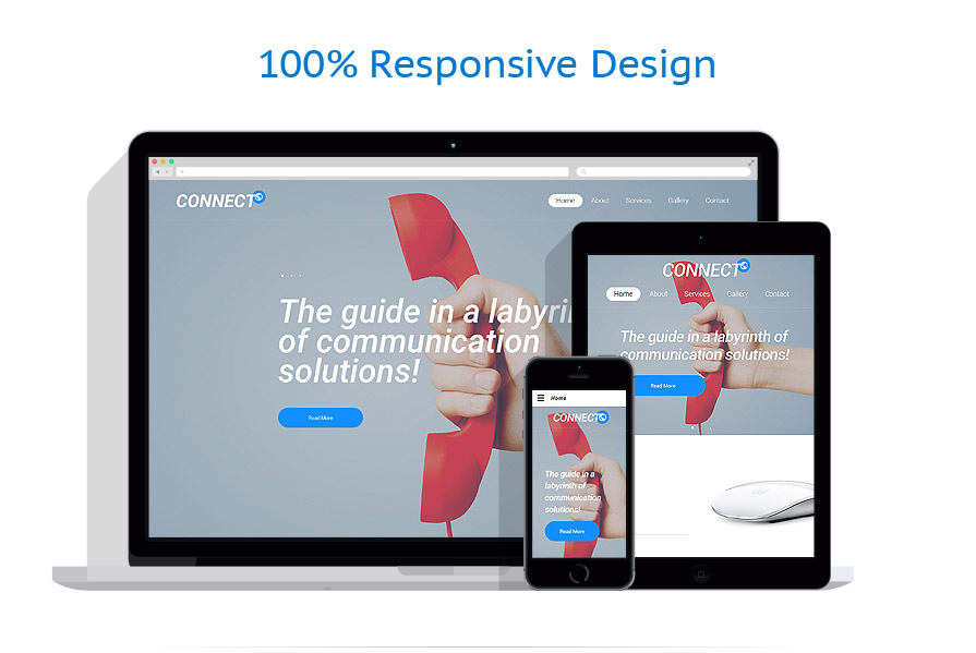 responsive template | Communications | ID: 2401