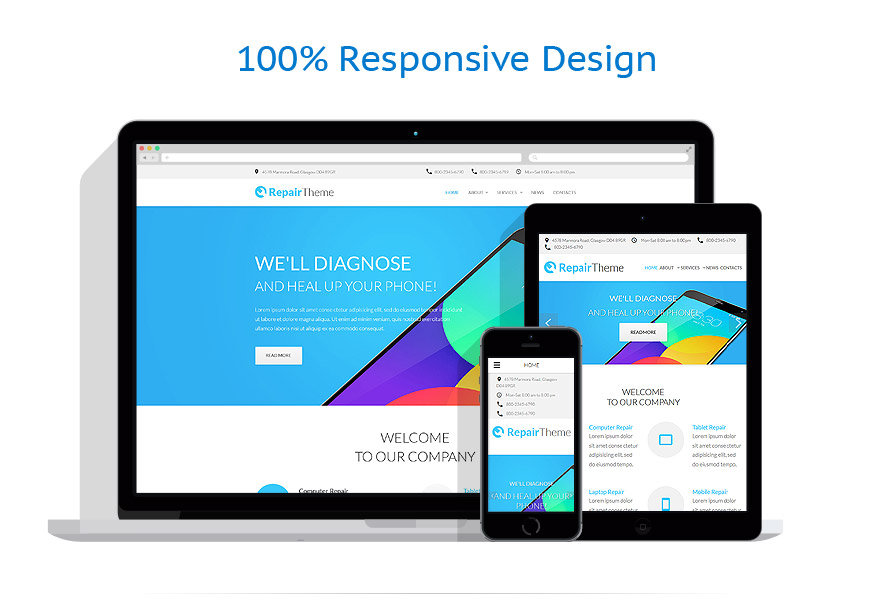 responsive template | Computers | ID: 2468