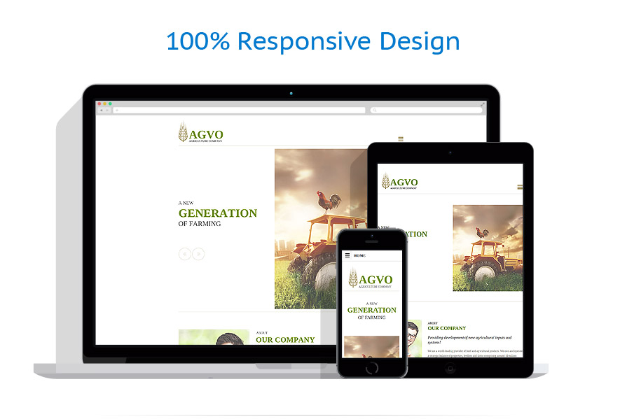 Sablon responsive de | Agricultura | ID: 2475