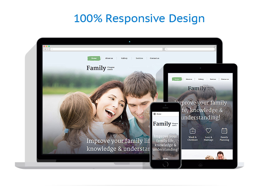 Responsive website templates | Family