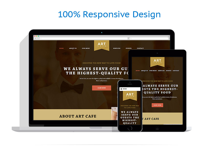Sablon responsive de | Cafenele & Restaurante | ID: 2516