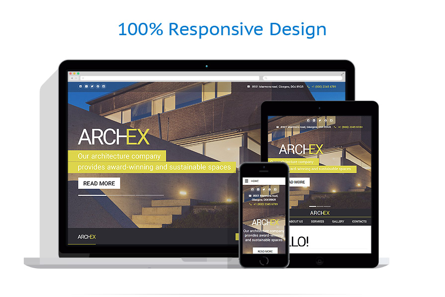 Sablon responsive de | Arhitectura | ID: 2519