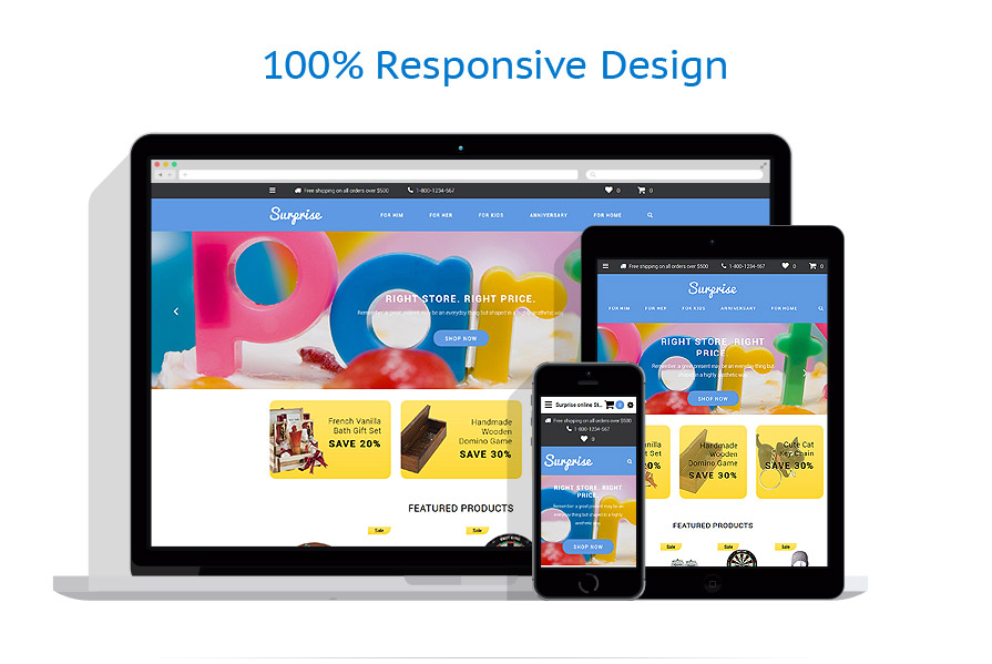 responsive template | Gifts | ID: 2592