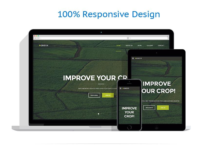 Sablon responsive de | Agricultura | ID: 2593