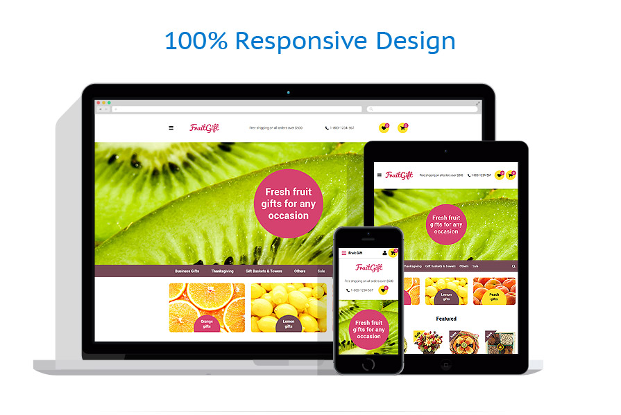 responsive template | Gifts | ID: 2611