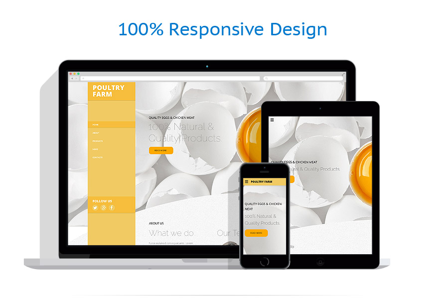 responsive template | Agriculture | ID: 2617